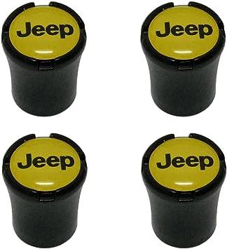 4pcs Carbon Fiber Auto Car Wheel Tire Air Valve Caps Stem Cover fit for Jeep