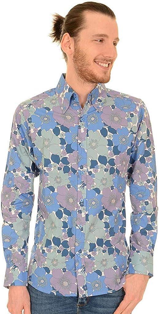 Run /& fly homme homard imprimé chemise à manches courtes vintage rétro indie 80s