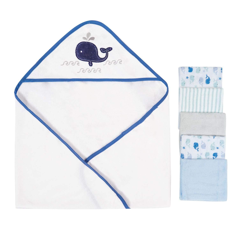 Toalla con capucha de bebé, conjunto de toallas, patrón de bordado animal lindo, 5 + 1 papel de regalo.: Amazon.es: Bebé