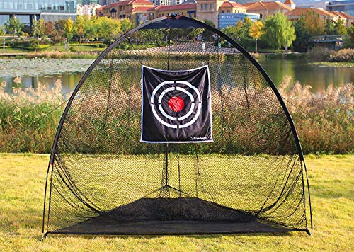 Galileo Golf Nets Golf Practice Net Hitting Netting for Backyard Portable Driving Range Golf Cage Indoor Golf Net Training Aids with Target 8'x7'x7' by Galileo (Image #4)