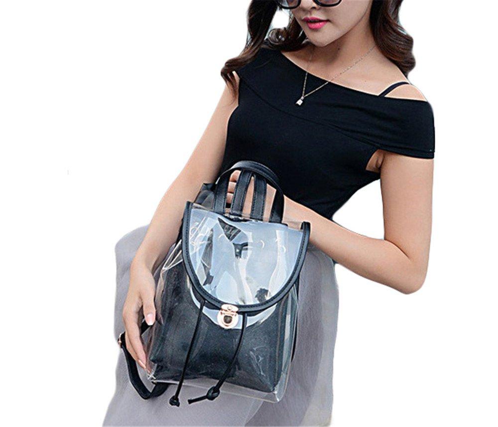 OK265 Summer Clear Drawstring Backpack Cute Knapsack Satchel Transparent School Bag