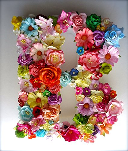 Floral Letter (Paper Floral Monogram Letter made with Handmade Mulberry Paper Flowers)