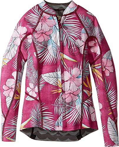 Billabong Kids Girl's Peeky Jacket (Big Kids) Sangria 12 US Big Kids (Billabong Kids Jacket)