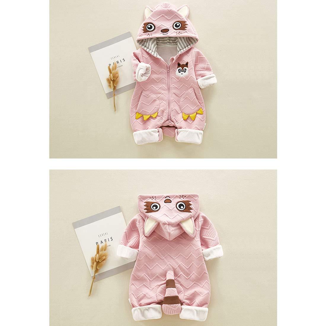 DorkasDE Baby Strampler Neugeborene Kleinkinder Strampleranzug Overall Cartoon Jumpsuit Fr/ühling Herbst Babykleidung mit Kapuze