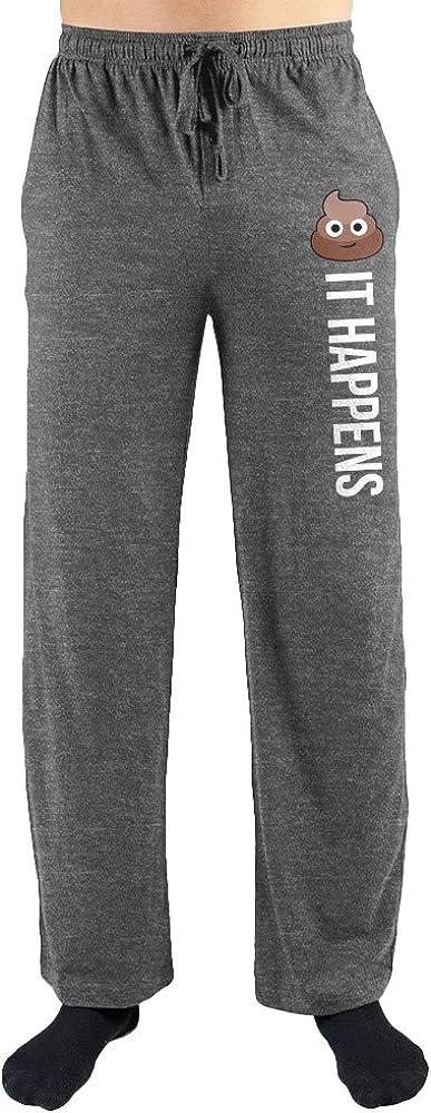 Poop Emoji It Happens Print Mens Loungewear Lounge Pants Gift
