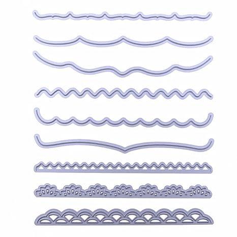 9 piezas de troqueles de corte de metal tarjetas decorativas bordes scrapbooking foto plantilla para bricolaje