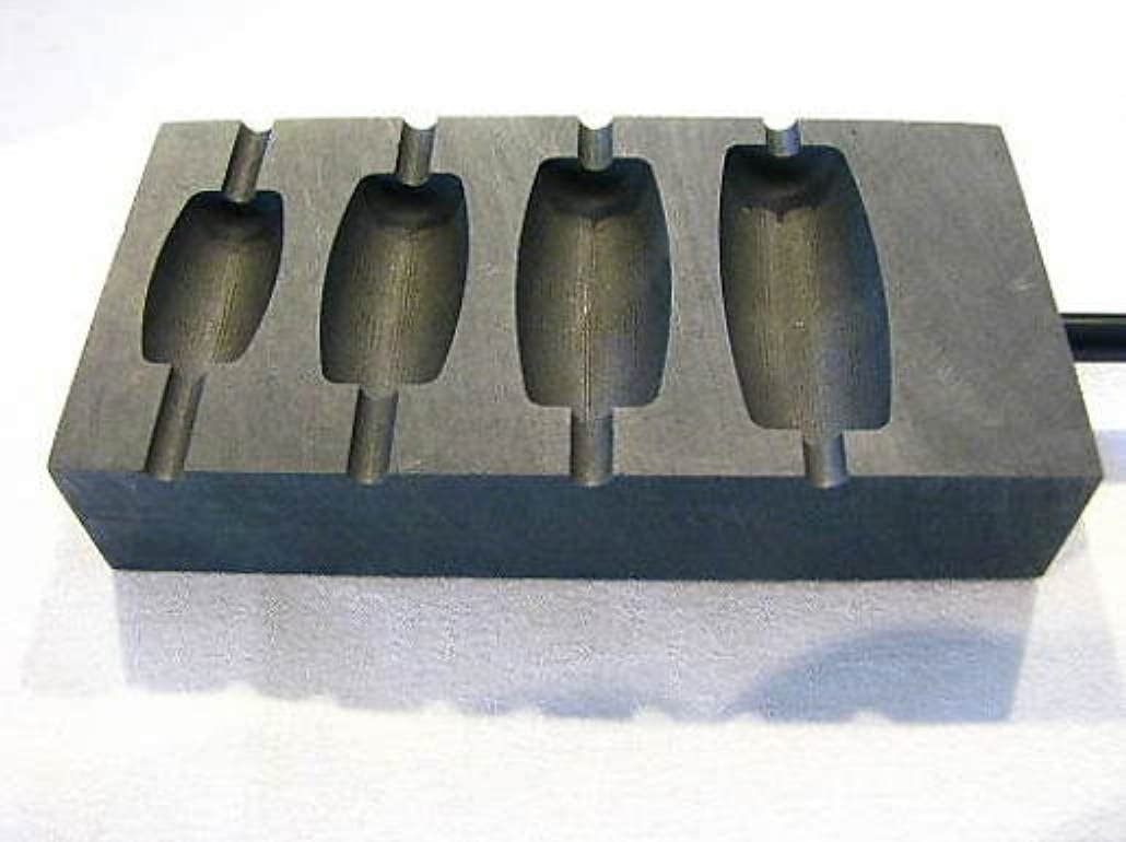 Beadmaking 4 Slot Round Graphite Shaper Devardi Glass Lampwork