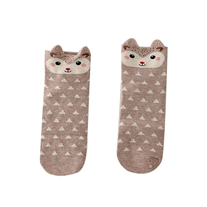 calcetines mujer cortos invierno Switchali lindo animal de dibujos animados Mujer Casual Calcetines Elástico 1 par