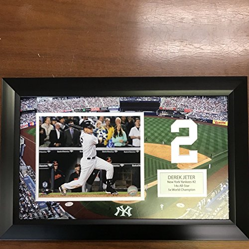 Yankee Framed Mini - Framed Derek Jeter New York Yankees Yankee Stadium 8x10 Baseball Photo Professionally Matted