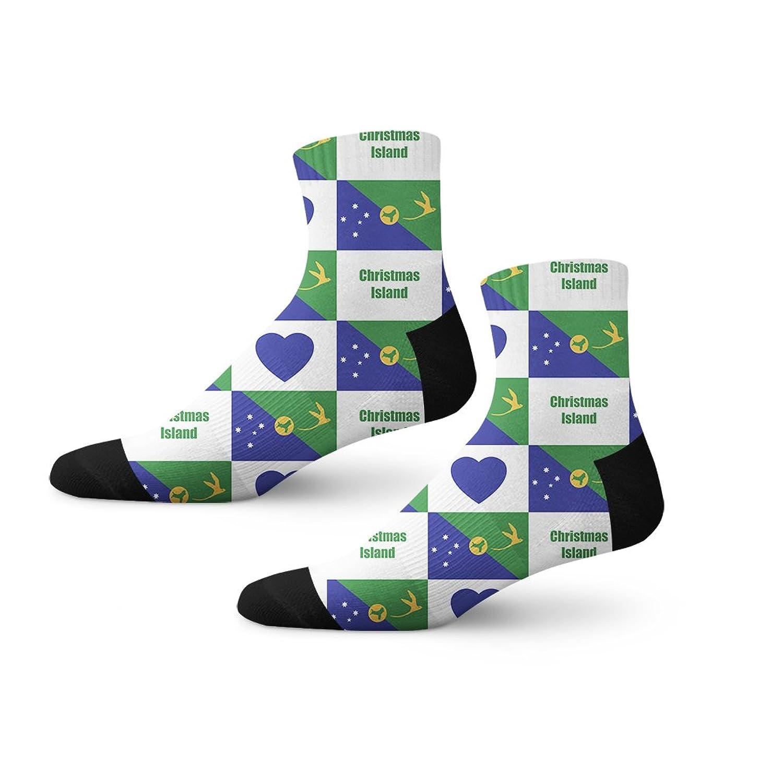 Amazon.com: Christmas Island Flag Heart Fun Cool Novelty Cuff Men ...