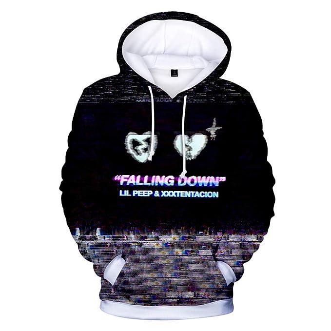 Haililais Lil Peep and Xxxtentacion Sudaderas Impresión 3D Suéter con Capucha Casuales para Niño y Niña Hipster Sweatshirts Jerseys para Mujeres y Hombres: ...