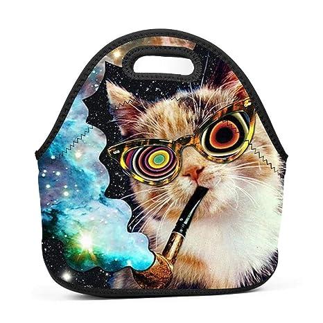 Bolsa de almuerzo de neopreno para gatos, 1 bolsa de almuerzo para mujeres y niñas