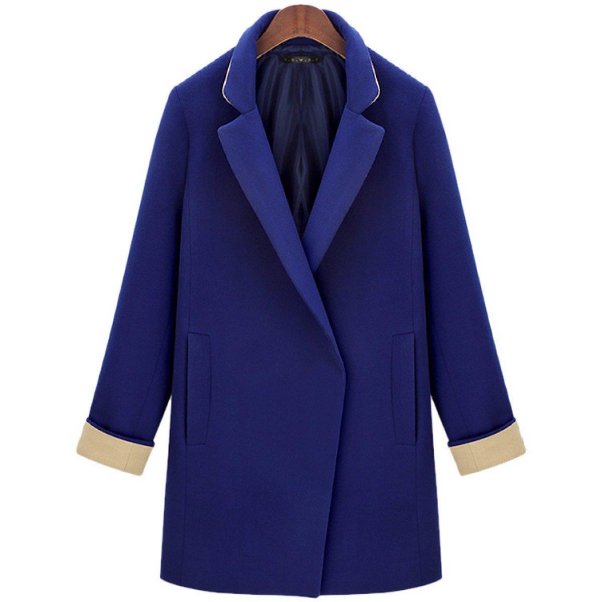 LQABW Chaqueta De Mujer De Otoño E Invierno New Woolen Coat