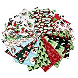 20 Pcs Cotton Fabric Christmas Fabric Bundles