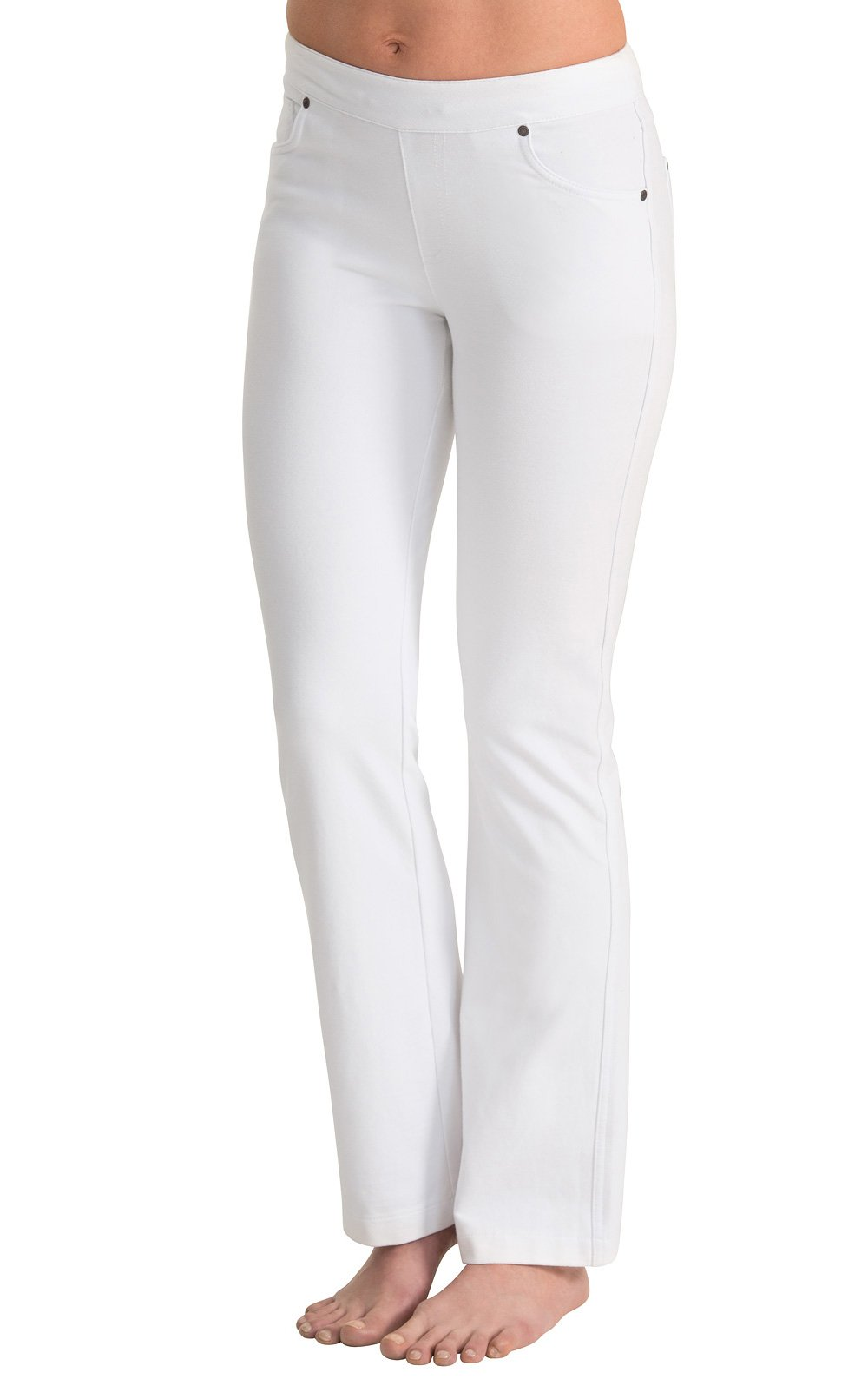 PajamaJeans - Lightweight Bootcut White Stretch Knit Denim Jeans for Women G04209