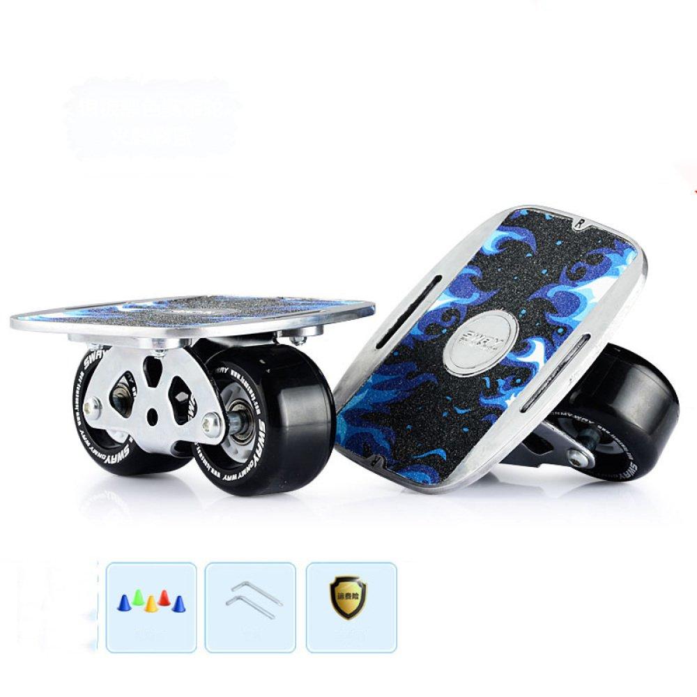 CZZ Bxh Drift Board Adulti Bambini Split Skateboard Viaggio Pennello Strada Professionale Skateboard Doppio Drago Bordo Dritto Fila Bordo Strada,E,puleggia