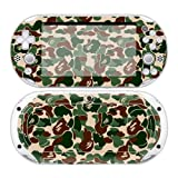 CSBC Skins Sony PS Vita 2000 Design Foils Faceplate Set - Camouflage Design