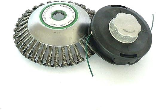 CHM GmbH - Cepillo de malas hierbas para desbrozadora (200 x 25, 4 mm, cabezal de corte Easy Load automático): Amazon.es: Jardín