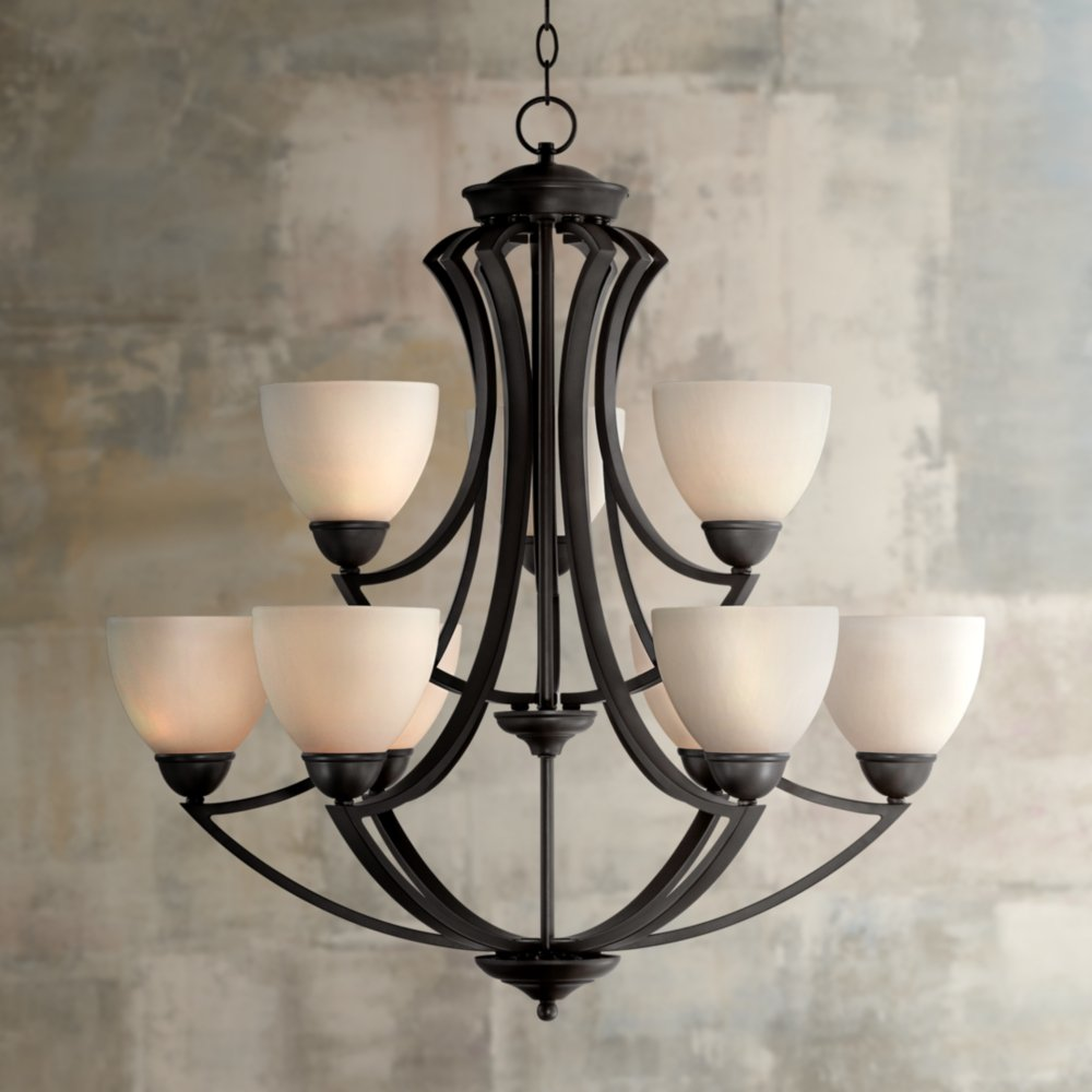 Milbury Collection Dark Bronze 9-Light 30\