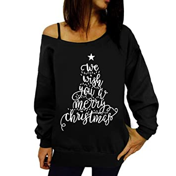 Clearance Women Tops Cinsanong Christmas Blouse Shirt Long Sleeve Sweatshirt PrintPullover at Amazon Womens Clothing store: