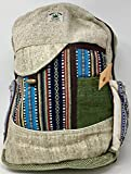 100% Himalayan Hemp Backpack, Unisex, Made in Nepal, Built-in Laptop Pouch, Great for School, Travel and Daypack, Unique Colors and Styles, Durable and Long-Lasting (Jamie) For Sale