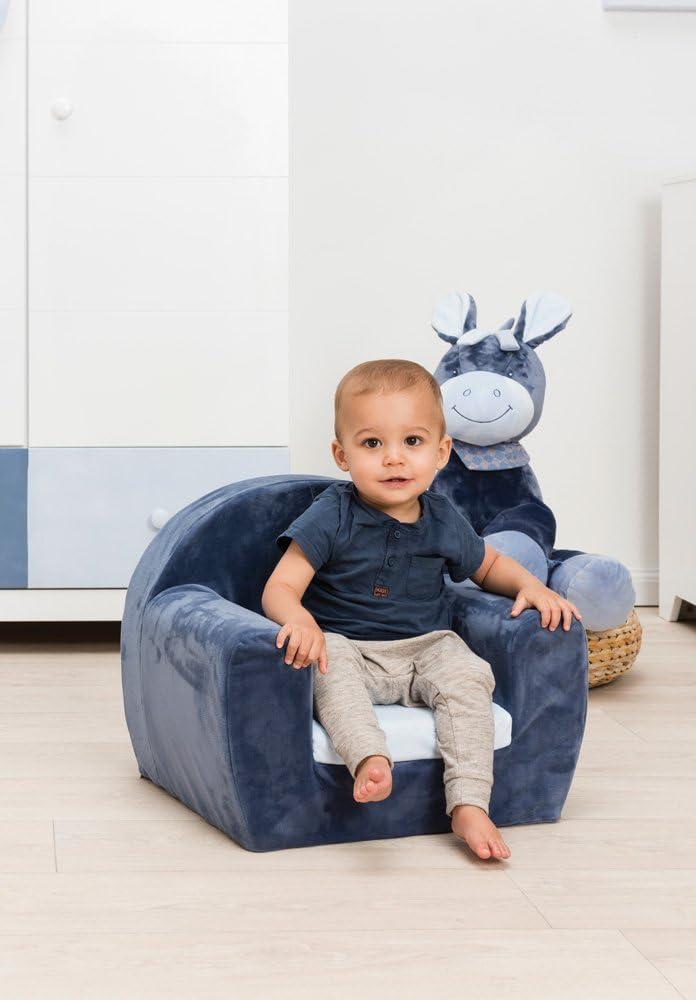 48 x 50 x 50/cm Nattou Sofa pour Enfants de 1,5 /à 3 ans Beige//Rose Jade et Lili Nina
