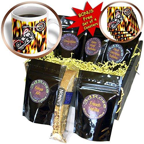 Coffee Gift Basket Picturing Harley-Davidson® Motorcycle - Coffee Gift Basket (cgb_3175_1) (Harley Davidson Gift Basket)
