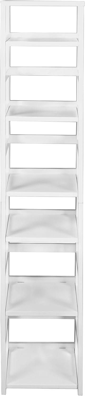Niche Flip Flop Square Folding Bookcase, 67-inch, White