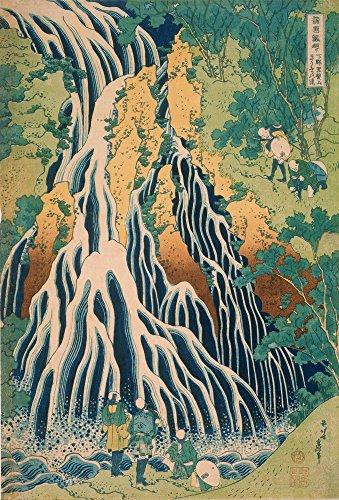Berkin Arts Katsushika Hokusai Giclee Art Paper Print Art Works Paintings Poster Reproduction(Japanese Pilgrims at Kirifuri Waterfall on Mount Kurokami in Shimotsuke Province)