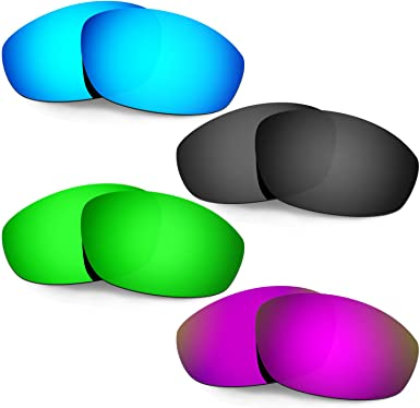 HKUCO Reinforce Replacement Lenses For Rudy Stratofly Red//Titanium//Emerald Green Sunglasses