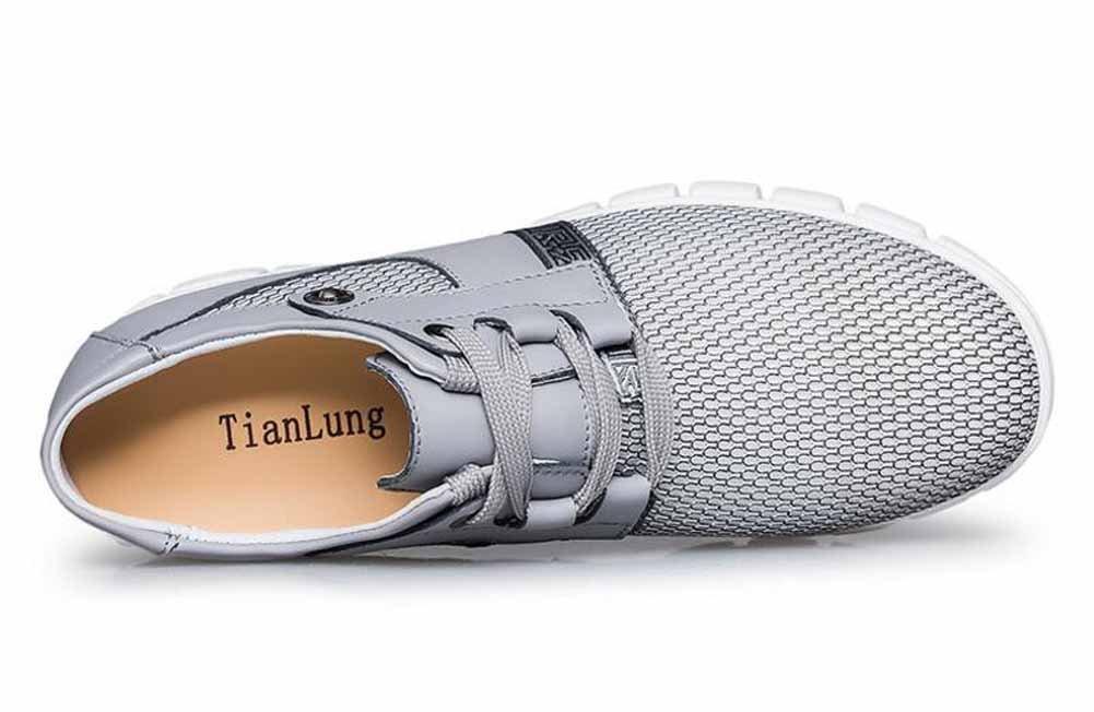 SHIXRAN Herren Atmungsaktiv Atmungsaktiv Atmungsaktiv Mesh Laufende Schuhe Versteckte Fersensport-Luftkissen Beiläufige Schuhe afa0b1