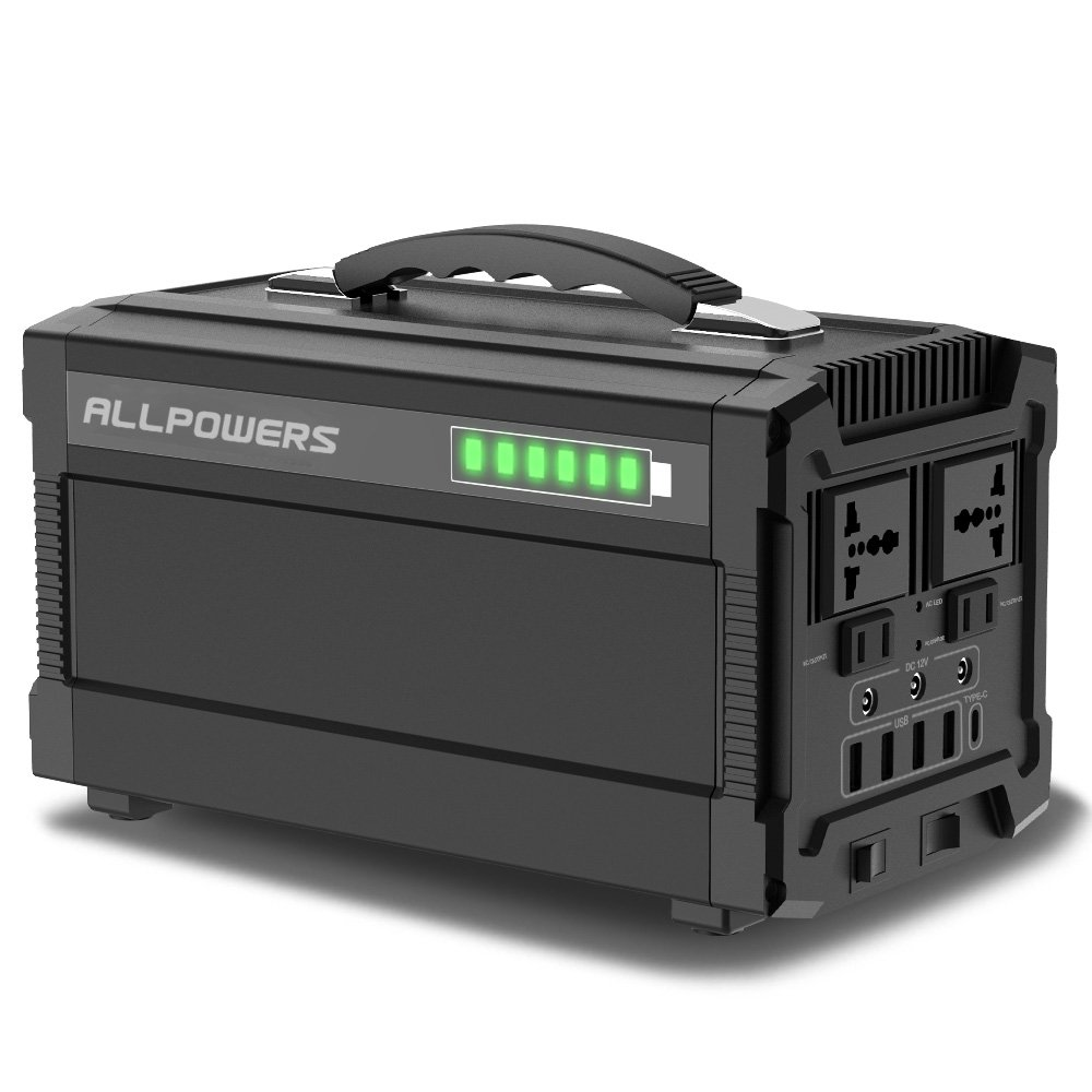 ALLPOWERS Portable Power Station 154W 41600mAh Portable Solar Generator with Wireless Charge, Dual 110V AC Outlet, 2 USB Ports, USB C for Camping Outdoors or Emergency Backup