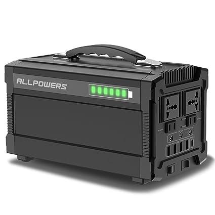 ALLPOWERS 288Wh/78000mAh Solar Stromerzeuger Stromgenerator 220V AC Steckdose 12V DC und USB C Solarbatterie Tragbarer Solar