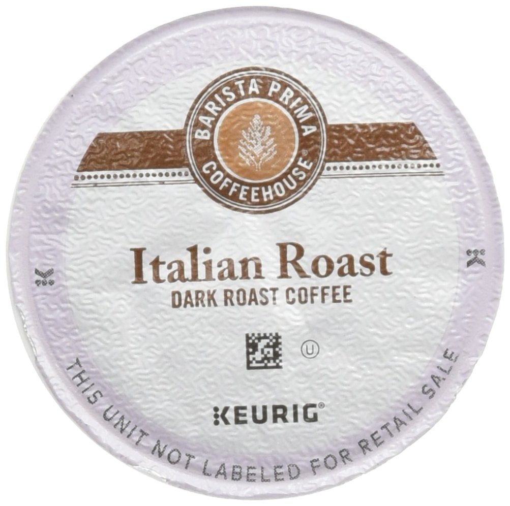 Barista Prima Coffeehouse Dark Roast Extra Bold K-Cup for Keurig Brewers, Italian Roast Coffee (Count of 96) by Barista Prima