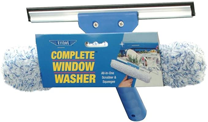 ABRUS/® Window Cleaner with Extendable Handle 2 in 1 All-Purpose Squeegee 58-95cm Long Adjustable Handle with Rubber Squeegee /& Scrubber