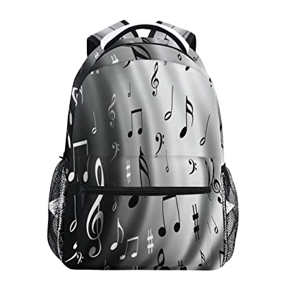 e87521702a67 Amazon.com : Music Notes Background Backpack Waterproof School ...