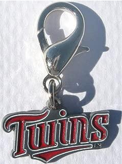 product image for Diva-Dog MLB Baseball 'Minnesota Twins' Licensed Team Dog Collar Charm