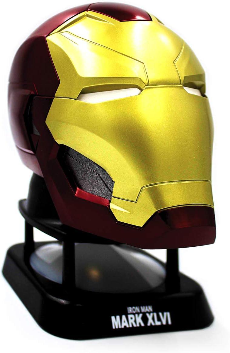 Mini Altavoz con Bluetooth de Iron Man, Altavoz inalámbrico con Licencia Oficial de Marvel, compatibilidad Universal por Bluetooth o Conector de Audio ...