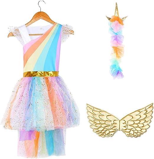 Disfraz de unicornio para Halloween de Divistar, para niñas ...