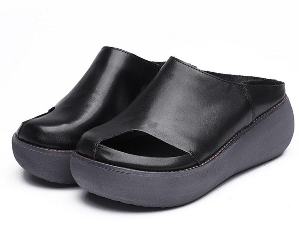 MEILI Weibliche Steigung mit baotou handgemachten starken Sandalen und Pantoffeln  US8 / EU39 / UK6 / CN39
