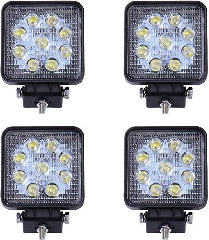 2x trabajo faros faros adicionales lámpara de trabajo con halógenas bombillas