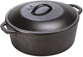 product image for Lodge 5 Quart Cast Iron Dutch Oven. Pre-Seasoned Pot with Lid and Dual Loop Handle