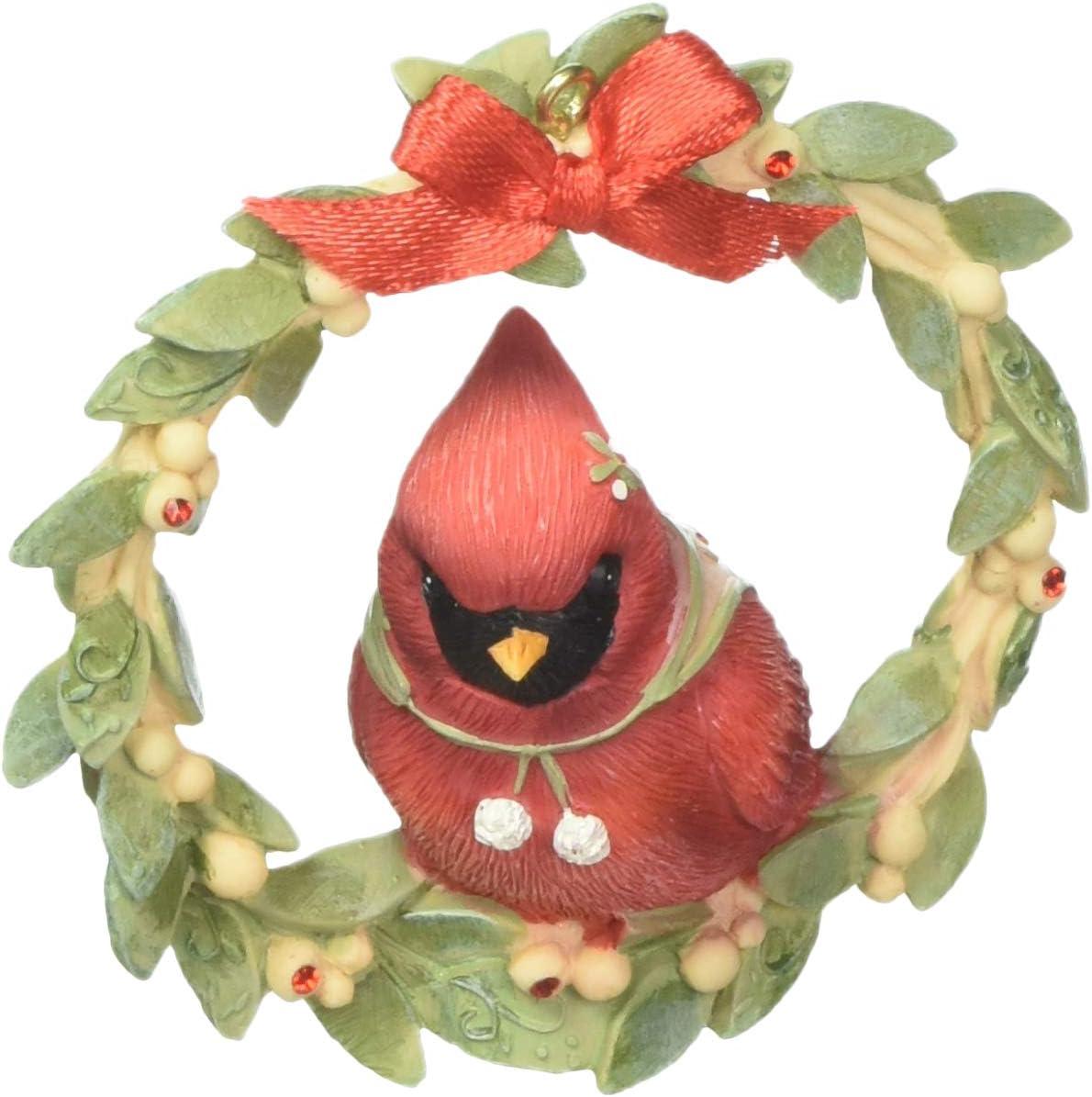 "Enesco Heart of Christmas Sweet Tweet Wreath Hanging Ornament, 3.27"", Multicolor"