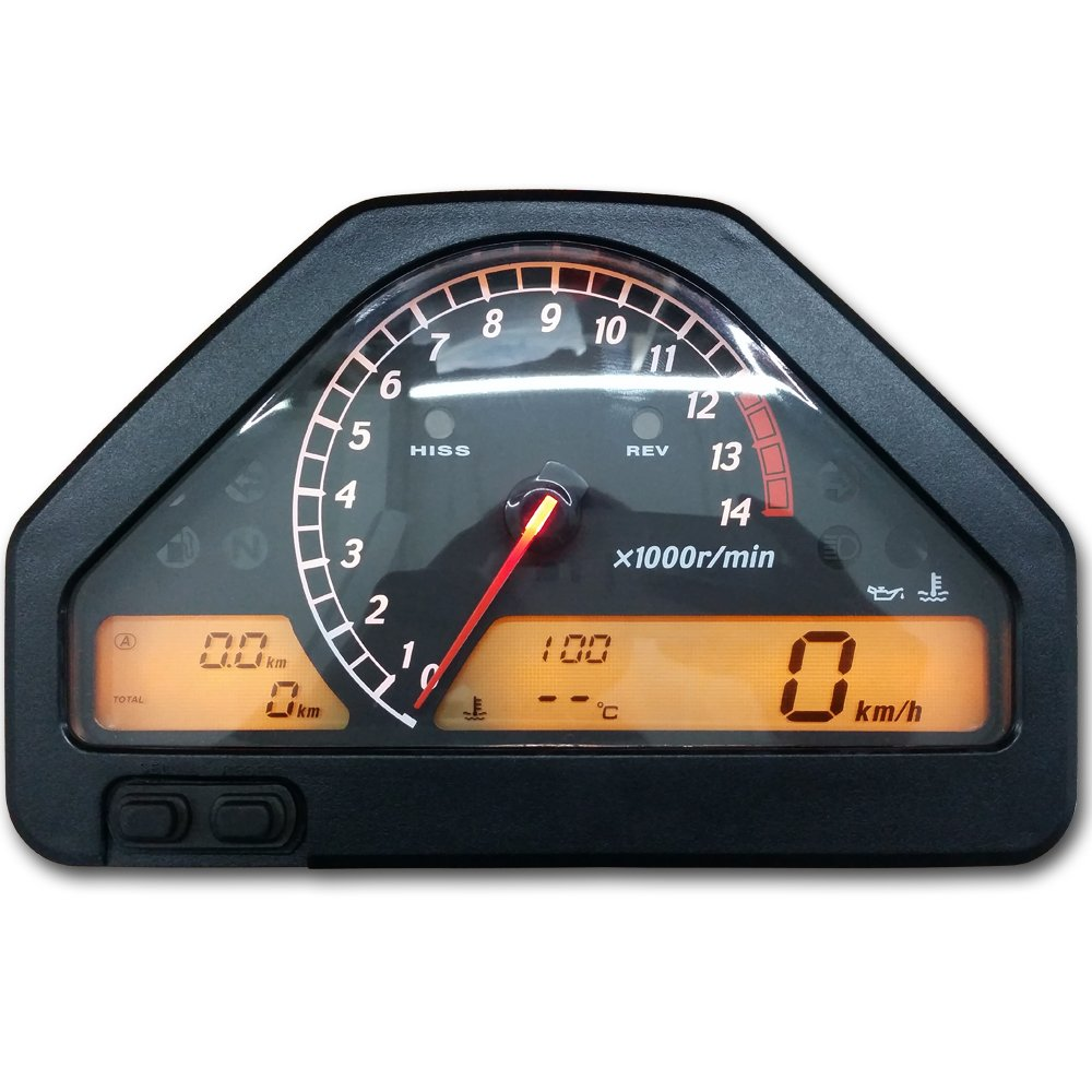 zxmoto velocà  metro del odà ³ metro tacà ³ metro medidor de grupo para CBR 1000 RR (2004 - 2007) ZXMOTO-CN