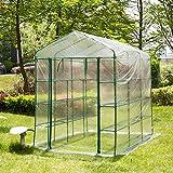 Glitzhome Garden Backyard 3 Shelf Walk-In Zipper Greenhouse Review