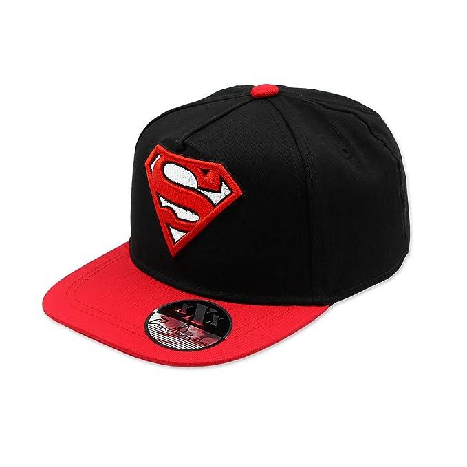SUPERMAN DC COMICS - Gorra con Visera Plana, Estilo Hip Hop, con Holograma y Bordado 3D, Factor de protección UV 30-56 cm: Amazon.es: Ropa y accesorios