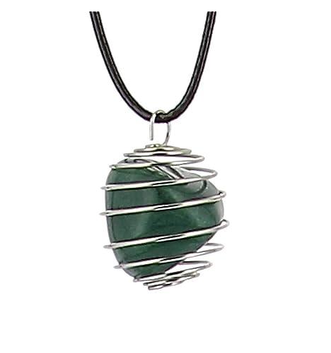 Axstore Market - Collar Piedra Natural de Aventurina con Colgante ...
