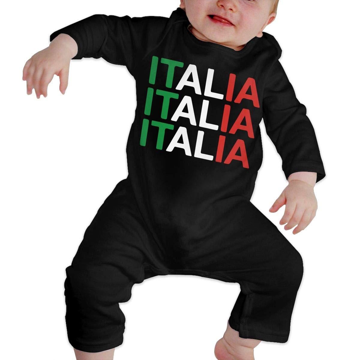 LBJQ8 Italia Baby Boys Essential Basic Bodysuit Romper Jumpsuit