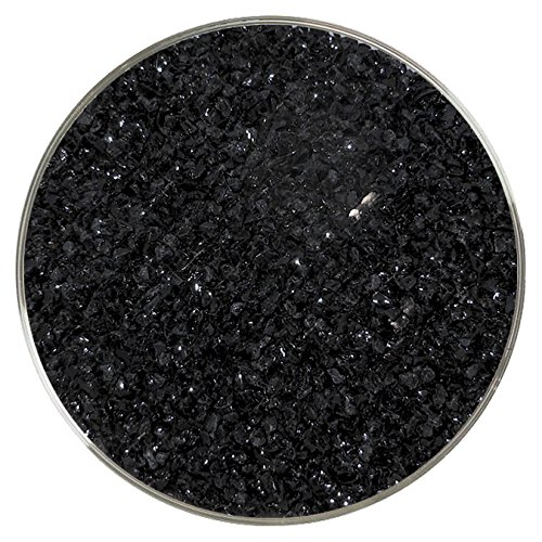Black Opalescent Medium Frit - 4oz - 96COE - Made From System 96 Glass New Hampshire Craftworks