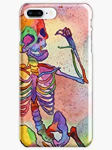 Rainbow Skeleton Phone Case for Apple Iphone 8 Plus